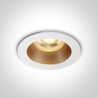 10105M/W/BS WHITE GU10 10W BRASS REFLECTOR DARK LIGHT