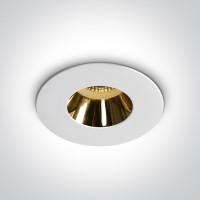 10105MD/W/GL WHITE GU10 10W GOLD REFLECTOR DARK LIGHT