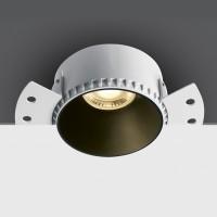 10105RM WHITE GU10 10W TRIMLESS DARK LIGHT WITHOUT REFLECTOR