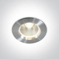 10105W/AL/W ALUMINIUM LED 5W WW IP44 30deg + DRIVER 230v