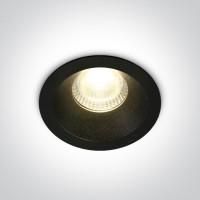 10107DC/B/W BLACK LED 7W WW IP20 50deg 230V DARK LIGHT