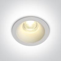 10107DC/W/W WHITE LED 7W WW IP20 50deg 230V DARK LIGHT