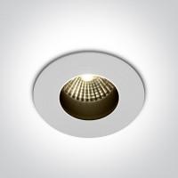 10107H/W/C WHITE COB LED 7W CW DARK LIGHT 36deg IP65 700mA