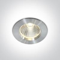 10107W/AL/W ALUMINIUM LED 7W WW IP44 + DRIVER 100-240v