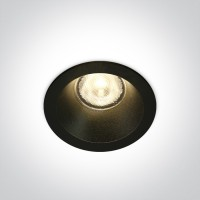 10107WP/B/W BLACK LED 7W WW 38deg IP44 700mA DARK LIGHT