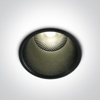 10110FD/B/W BLACK LED 10W WW 24deg IP20 230V DARK LIGHT