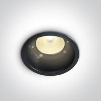 10112L/B/W BLACK COB LED 12w WW 700mA 40deg DARK LIGHT WITHOUT REFLECTOR