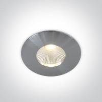 10112P/AL/W ALUMINIUM COB LED 12w WW 700mA 40deg IP64