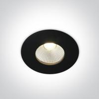 10112P/B/W BLACK COB LED 12w WW 700mA 40 deg IP64