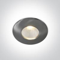 10112P/MC/W  BRUSHED CHROME COB LED 12w WW 700mA 40deg IP64