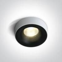 10112R/B/W BLACK COB LED 12w WW 700mA 50deg DARK LIGHT