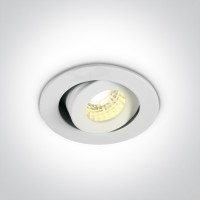 11103B/W/W WHITE COB LED 1w/3w WW 40deg 350mA/700mA IP20