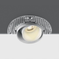 11105DTR/W WHITE ADJUSTABLE TRIMLESS GU10 50W DARK LIGHT