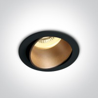11105M/B/BS BLACK GU10 10W BRASS REFLECTOR DARK LIGHT ADJUSTABLE