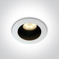 11105TA/W WHITE ADJUSTABLE GU10 50W DARK LIGHT