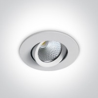 11107B/W/W WHITE LED 7W WW 60deg 230V ADJUSTABLE