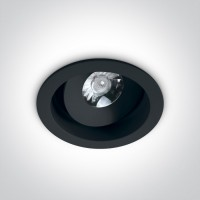 11107DA/B/W BLACK LED 7W WW 36deg 230V ADJUSTABLE DARK LIGHT