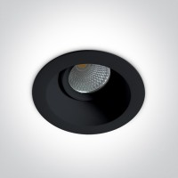 11107FD/B/W BLACK LED 7W WW IP20 60deg 230V ADJUSTABLE DARK LIGHT
