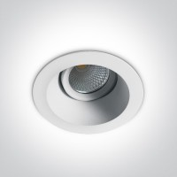11107FD/W/C WHITE LED 7W CW IP20 60deg 230V ADJUSTABLE DARK LIGHT