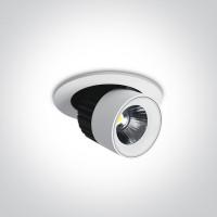11107R/W/C WHITE LED 7W CW 38d IP20 350mA