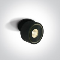 11108LA/B/W BLACK COB LED 8W WW IP20 230V