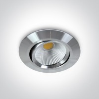 11112/AL/W ALUMINIUM COB LED 12w WW 700mA 38deg IP20 ADJUSTABLE