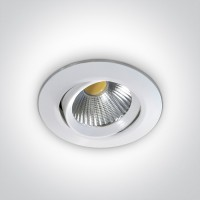 11112/W/C WHITE COB LED 12w CW 700mA 38deg IP20 ADJUSTABLE