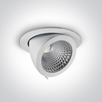 11130F/W/C WHITE COB LED 30w CW 55d IP20 230v