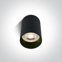 12105E/B BLACK CYLINDER GU10 20W
