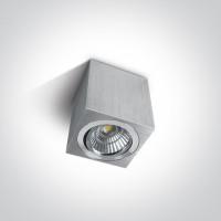12107AL/AL/W ALUMINIUM LED 7w WW 38deg ADJUSTABLE DIMMABLE 230v
