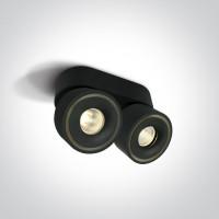 12208LA/B/W BLACK COB LED 2x8W WW IP20 230V