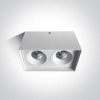 12211L/W/W WHITE LED 2x11W WW 40deg IP20 230V
