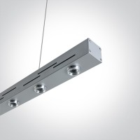 38018/G/W GREY PENDANT LED 6x1w WW