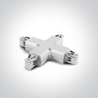 41018/W WHITE X CONNECTOR