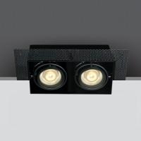 51020TR/B BLACK 2xGU10 TRIMLESS BOX