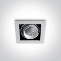 51109B/W/W WHITE COB LED 10w WW 36d IP20 230v