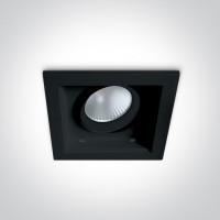 51112H/B/W BLACK LED 12W WW 60deg 100-240V ADJUSTABLE