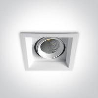 51120TR/W/W WHITE COB LED 20w WW 36d IP20 SEMI-TRIMLESS + DRIVER 230v