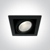 51130/B/C BLACK COB LED 30W CW 38deg 230V