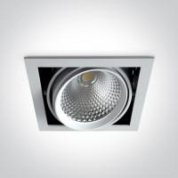 51140B/W/W WHITE COB LED 40w WW 36d IP20 230v