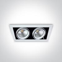 51220/W/C WHITE COB LED 2x20W CW 36deg 230V