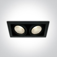 51230/B/W BLACK COB LED 2x30W WW 38deg 230V
