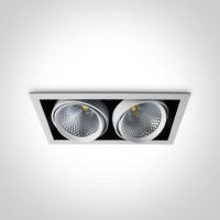 51240B/W/W WHITE COB LED 2x40W WW 36d IP20 230v