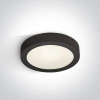 62115F/B/C BLACK PLAFO LED 16w CW IP40 230v