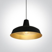 63020/B/BS BLACK E27 20W BRASS REFLECTOR