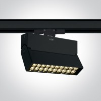 65020T/B/W BLACK LED 20W WW TRACK SPOT 24deg 230V