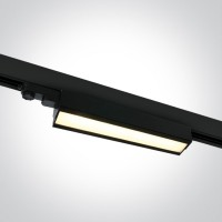 65026T/B/W BLACK LED 40W WW LINEAR TRACK LIGHT ADJUSTABLE 230V