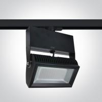 65042T/B/C BLACK LED 42w CW TRACK SPOT 80deg 230v