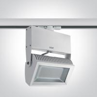 65042T/W/C WHITE LED 42w CW TRACK SPOT 80deg 230v