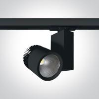 65614T/B/W BLACK COB LED 45W WW TRACK SPOT 230V